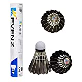 KEVENZ 12-Pack Goose Feather Badminton Shuttlecocks with Great Stability and...