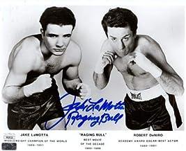 Jake LaMotta Autographed Boxing (with Robert Deniro) Raging Bull 8x10 Photo - JSA