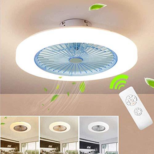 Home Equipment Ceiling Fan Ceiling Fan LED Fan Ceiling Fan with Lighting 36W Ceiling Lighting Dimmable with Remote Control 3 Gear Adjustable Wind Speed Modern Bedroom 58CM Ceiling Lamp Quiet Fan Nu