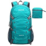 HOOYEE 40L Lightweight Foldable Water-Resistant Ripstop Nylon Hiking Backpack Daypack (Green)