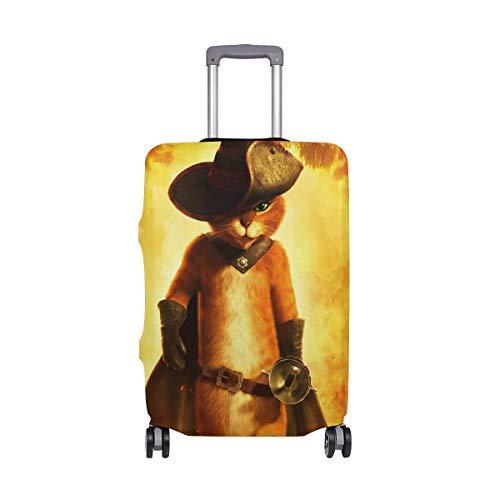 IUBBKI Funda para Equipaje de Viaje El Gato con Botas Protector de...