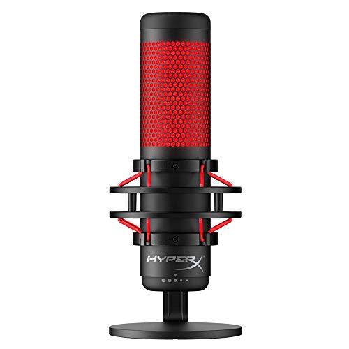 HyperX HX-MICQC-BK Quadcast, Microfono Standalone per Streamer e Podcaster