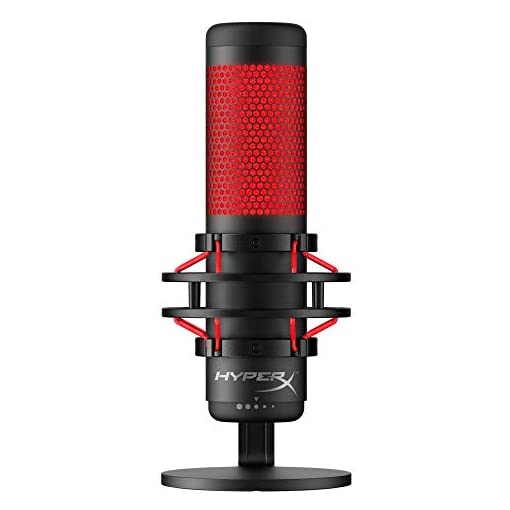 HyperX QuadCast Table Microphone Negro, Rojo - Micrófono (Table Microphone, -36 dB, 20-20000 Hz, 16 bit, 48 kHz… 1