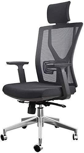 Elegante silla oficina, silla giratoria Silla de oficina negra   Silla de escritorio con silla de computadora lumbar robusta   130 ° Compatibilidad con reclinación / cintura   Sillas de recepción mini