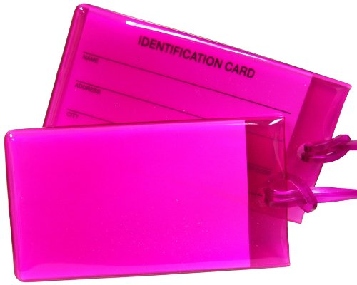 Travel Smart by Conair Jelly Luggage Tag Assortment, Magenta, 2 Pack