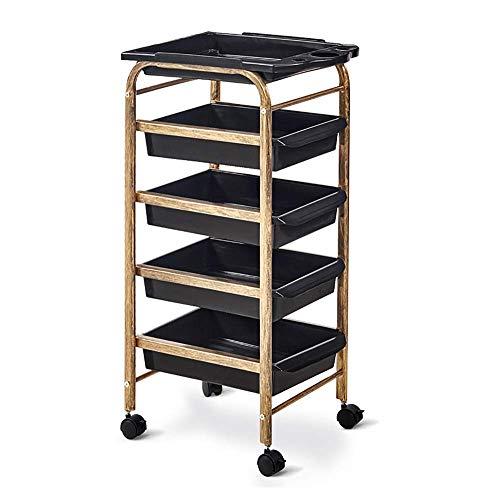 TGhosts 5 tiroirs de stockage Chariot - for Office Accueil Papeterie et organisation ou Salon, Maquillage, salons de coiffure et de beauté - Design Mobile avec 4 Niveau de rayonnages et de Castor Roue