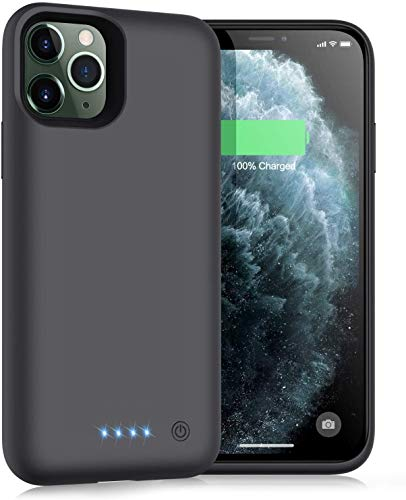 iPosible Cover Batteria per iPhone 11 PRO, 6800mAh Cover Ricaricabile Custodia Batteria Cover Caricabatteria Battery Case per iPhone 11 PRO [5.8''] Cover Power Bank Backup Charger Case