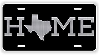 JMM Ind Home Texas State Vanity Novelty License Plate Tag Metal Auto Car Lone Star State 12-Inches by 6-Inches Etched Aluminum UV Resistant ELP016