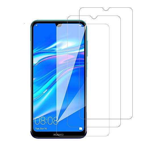 3 Pack Amonke Protector Pantalla para Huawei Y7 2019 Cristal