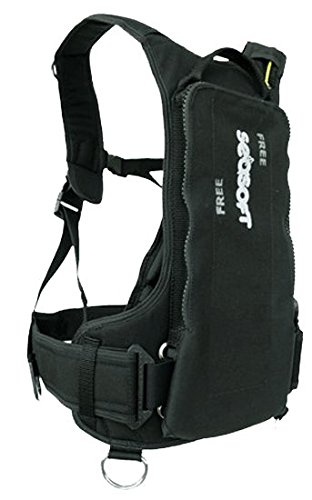 SeaSoft Backmount Diving Vest for Free Diving Weight Integrated Freediving