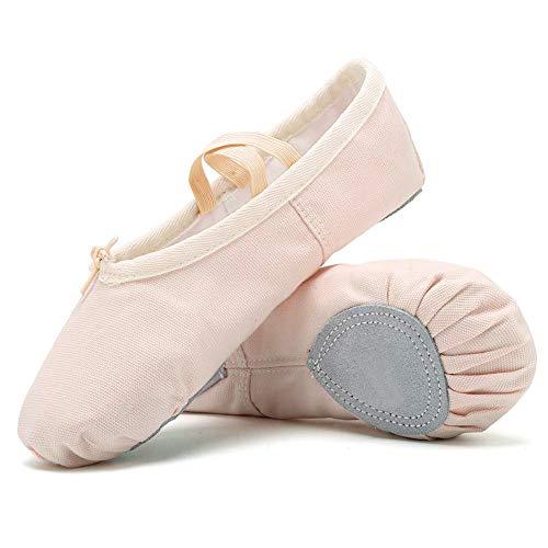 Niñas Ballet Zapatos Transpirable Zapatos de Ballet Zapatillas de Ballet de Danza Baile Princess Girls Zapatos (31 EU, Apricot)