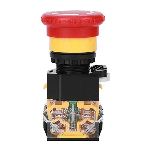 Interruptor de encendido/apagado, botón de parada de emergencia, seta, práctico, plástico de ingeniería de 3 piezas para ingeniería para la industria
