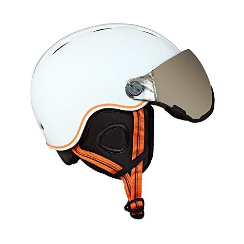 JJIIEE Casco de Nieve cálido a Prueba de Viento, Casco de esquí Ajustable con Gafas de Nieve Desmontables Anti-vaho Anti-UV para Snowboard, Motocicleta, Ciclismo, Equipo de esquí para jóvenes,B,S