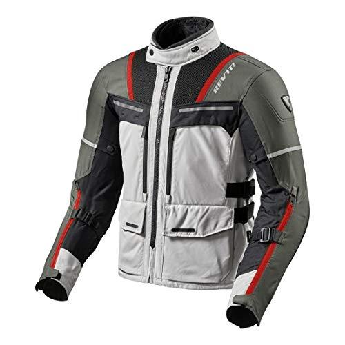 Revit Offtrack Motorcycle Jacket Silver-Red, L