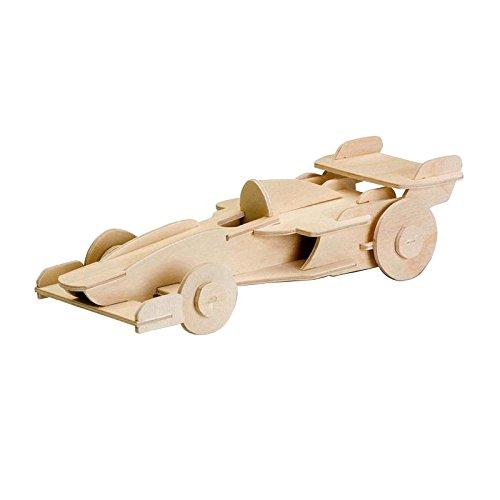 Laubsägevorlage aus Sperrholz Motiv Rennwagen 3D