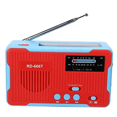 Lazmin Radio FM Am de manivela, Radio Solar portátil, Emergencia eléctrica con...