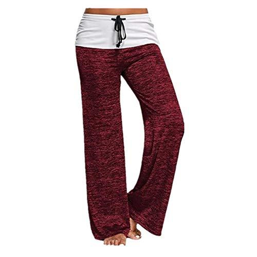 BEIXUNDIANZI Damen High Waist Sport Legging Mit Pocket Slimming Pants Für Yoga Gym Fitness Running Rot L Yoga Pants