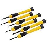 Stanley Tools 66052 - Juego de destornilladores de precisión (6 unidades), color negro y amarillo