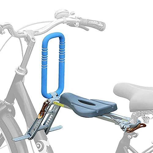 YTGH Asiento Infantil para Bicicleta Dedicado a Las Bicicletas de Montaña Plegable y Ultraligero para Niños Mayores de 2.5 Años y Que Pesen Menos de 25 Kg,Azul