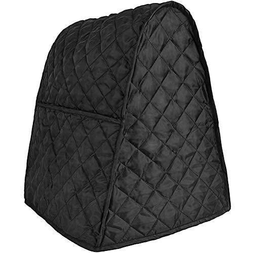 Staubdichte Abdeckung für Standmixer, Küchenmischer mit Organizer-Taschen, Schutzabdeckung für Mischpult, passend für alle Kippkopf- und Schalenhebemodelle (schwarz)