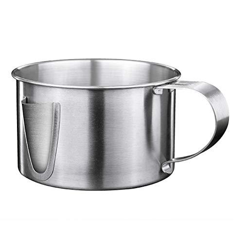 Kenyaw Vet Afscheiden Kan, 304 Roestvrij Staal Vet Afscheider Kop Bowl Met Handvat, Diverse Gebruiken, Vet/Oliefilter