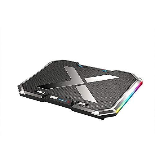 ORIYUKKI Noiseless 6 Fans Laptop Cooler USB Laptop Cooling Pad for Office Work Videogame