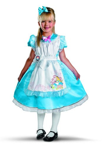 Disney Alice in the country of Alice Deluxe Toddler / Child Costume Wonderland - - Disney Alice in Wonderland Alice Deluxe Toddler / Child Costume Halloween Size: Small (4-6X) (japan import)