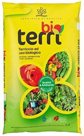 AGROCHIMICA Terriccio Terra substrato Biologico 45 lt per coltivazioni orto ortaggi Piante