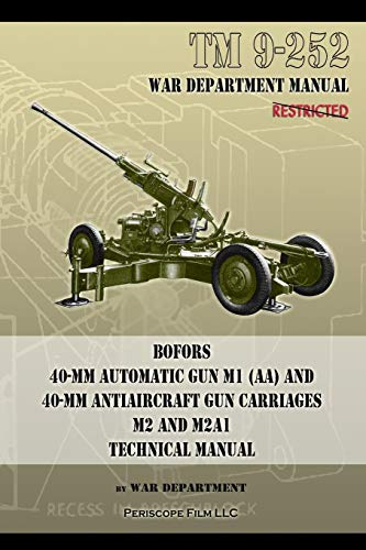 TM 9-252 Bofors 40-mm Automatic Gun M1 (AA) and 40-mm Antiaircraft Gun Carriages: M2 and M2A1 Technical Manual