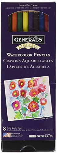 General's GEN700-8A Kimberly Water Color Pencil Set 8pc