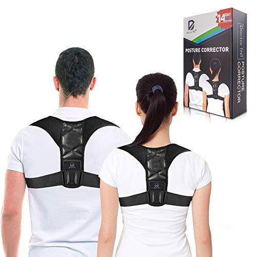 Doctor TNT - Corrector de Postura para Hombre y Mujer - Férula Ajustable para Dar Soporte a la Clavícula y Parte Superior de la Espalda y Aliviar el Dolor de Cuello, Espalda y Hombros (Universal)