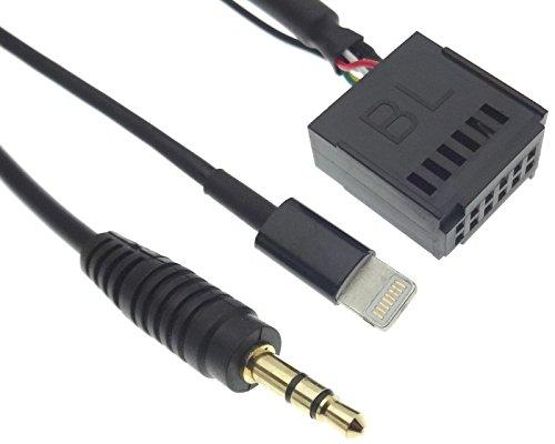 Autoradio AUX Line IN Adapter MP3 Kabel Stecker kompatibel mit Ford Radio 5000 6000 CD von Sony