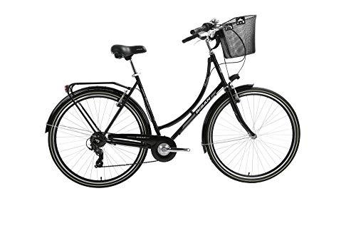 T&Y Trade 28 Zoll Damen City Rad Holland Fahrrad Bike CITYFAHRRAD DAMENFAHRRAD HOLLANDFAHRRAD HOLLANDRAD DAMENRAD Rad Bike Shimano 7 Gang Paradise S 2020 SCHWARZ