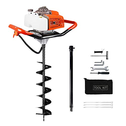 ECO LLC 62cc 2.4HP Gas Powered Post Hole Digger with 6