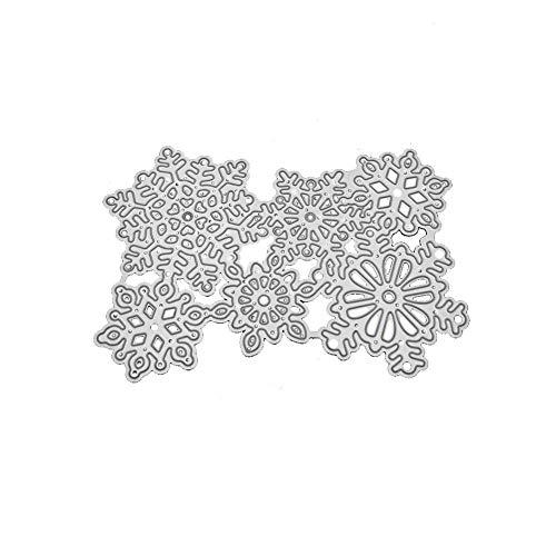 :Zentto Troqueles de corte 6 copos de nieve Plantillas para álbumes de recortes manualidades acero al carbono plantilla para hacer tarjetas de papel DIY Craft Plantilla