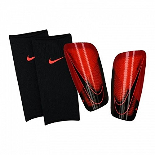 Nike Herren Mercurial Lite Schienbeinschoner, Bright Crimson/University Red, Gr. XL