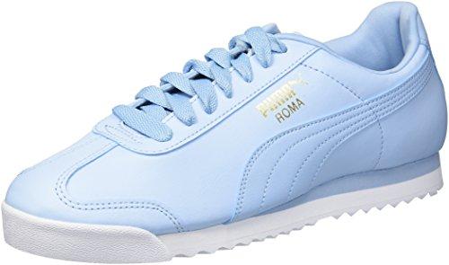 PUMA Zapatillas Roma Basic Fashion para hombre, Cerúleo, blanco puma, 39 EU