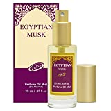 Egyptian Musk Perfume Oil Mist (no alcohol spray) - Natural Organic Essential Oils and Hypoallergenic Vegan Perfumes for Women and Men by Zoha Fragrances, 25 ml / 0.85 fl Oz