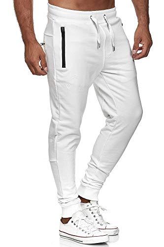 Red Bridge Herren Jogginghose Jogger Hose Freizeithose Sweat-Pants R-B-J M4236-Weiß-XL