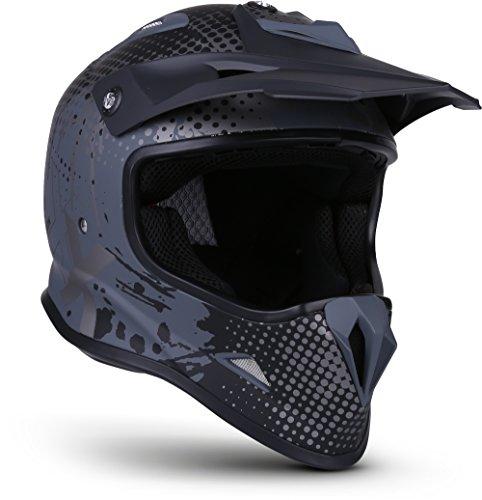 "Soxon® SKC-33 ""Fusion Titan"" · Kinder Cross-Helm · Motorrad-Helm MX Cross-Helm MTB BMX Cross-Bike Downhill Off-Road Enduro-Helm · ECE 22.05 Schnellverschluss SlimShell Tasche XS (51-52cm)"