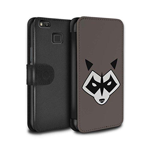 Diseño: Rocket Raccoon Inspirado Diseñado específicamente para el Huawei P9 Lite Hecho de: cuero de la PU Facil quita y pon Esta carcasa permite el acceso a la cámara, los auriculares y todos los botones de su móvil.