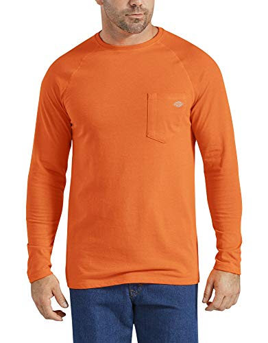 Dickies Men's Temp-iQ Performance Cooling Long Sleeve T-Shirt Big-Tall, Bright Orange, LT