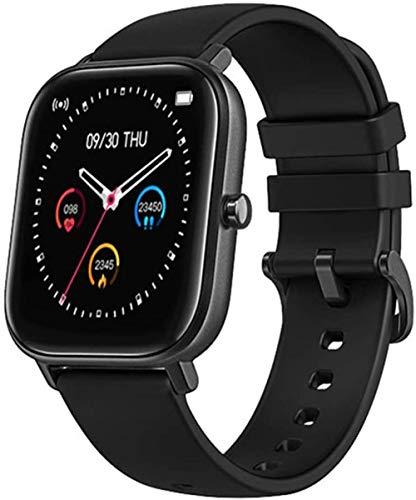 Reloj inteligente de 1,4 pulgadas para hombre, con función de seguimiento de la actividad física, monitor de presión arterial, reloj inteligente para mujer, color negro