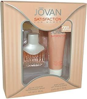 JOVAN SATISFACTION by Jovan SET-EDT SPRAY 1 OZ & BODY LOTION 2.5 OZ