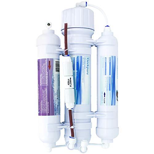 Sistema de filtro de agua de ósmosis inversa de 3 etapas para acuario-encimera-100GPD