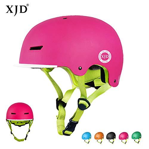 XJD Kinder Jugend Fahrradhelm Beschützer 2.0 CE-Zertifizierung für Sport Skateboard Motorrad 3-13 Alt (Rosa S)