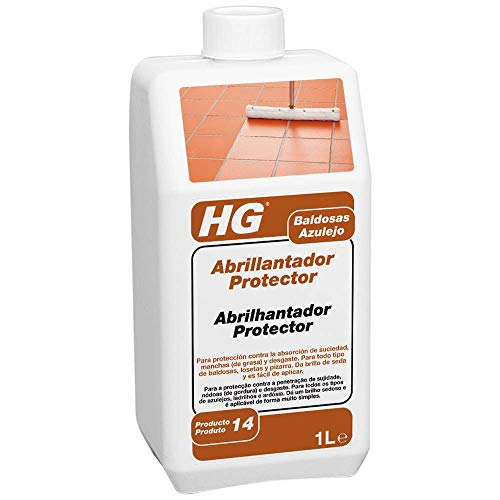HG Abrillantador Protector 1L - contra el desgaste y los arañazos - Para todo tipo de baldosas de suelo, losetas y pizarra