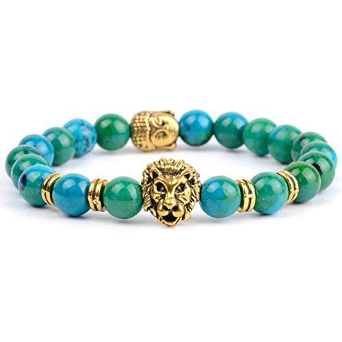 DLIAN armband mode Boeddha armband mannen boho 8 mm natuursteen kristal as leeuw dier charme armbanden & armbanden voor vrouwen hand yoga sieraden
