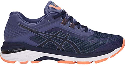 ASICS - Frauen Gt-2000 6 (2E) Schuhe, 37 2E EU, Indigo Blue/Indigo Blue/Smoke Blue