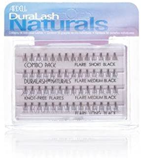 Ardell False Lashes Duralash Individual Naturals Knot- Free, Combo Black